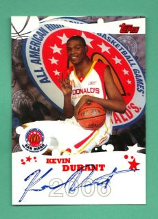 2006 Topps Kevin Durant McDonalds All American Auto High School Rookie
