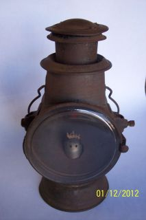Antique Early Dietz Kerosene Tubular Driving Lamp