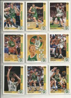 92 Upper Deck Boston Celtics 17 card Team Set Larry Bird Kevin McHale