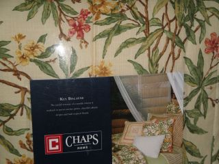 CHAPS Ralph Lauren KEY BISCAYNE Tropical QUEEN COMFORTER 4pc SET