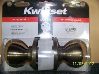 Kwikset Keyed Entry Exterior Door Knob Lock Set