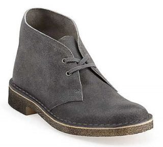 New in Box Clarks Womens Core Original Desert Boots Grey Distressed