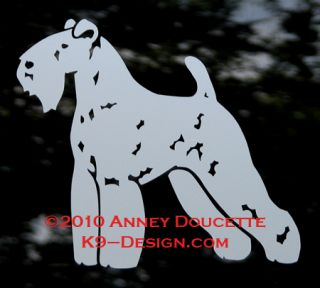 Kerry Blue Terrier Dog Car Vinyl Decal Sticker A K9 Design Creation