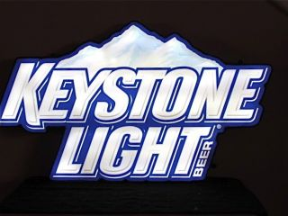 Keystone Light Logo Promotional LED Beer Bar Sign New USA Made Neon