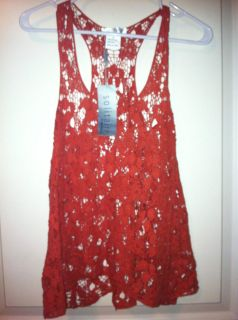 knitted stlye sheer tank Salmon size small Solitaire by Ravi Khosla