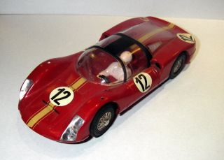Old Slot Car Marklin Sprint Porsche Red Mirrors Missing Used Model