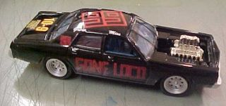 Lightning JL 1 64 77 Dodge Monaco Demolition Demo Derby Car Black LOCO