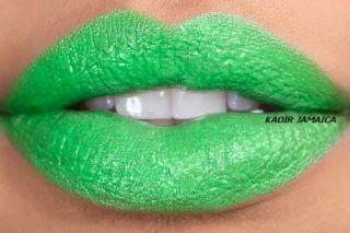 Keyshia KaOIR Jamaica Bright Green Lipstick Kaoir