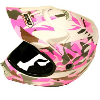New Youth Kids Motocross Motorcross MX ATV Dirt Bike Helmet Pink Camo