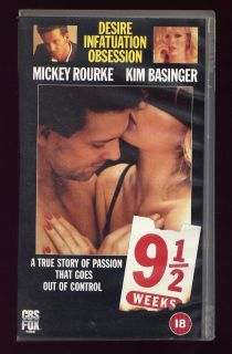 Weeks Kim Basinger Mickey Rourke PAL VHS