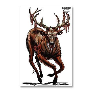 PK DARKOTIC MONSTER ZOMBIE BUCK DEER SPLATTERING RIFLE TARGETS