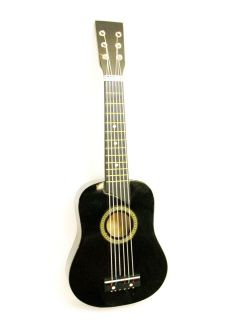 25 Acoustic Guitar Black Small Scale Child Kids Practice Play Toy Bag