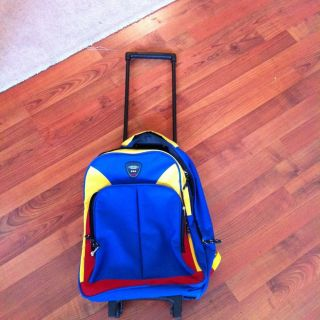 Skyway Kids Gear Boys Rolling Luggage Bag Backpack broken Zipper