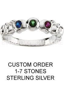 Mothers Family Jewelry Mothers Birthstone Ring in Sterling Silver 1