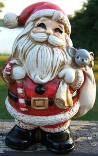 Vintage Santa Claus Christmas Ceramic Coin Bank