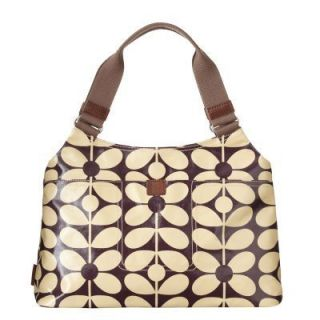 Orla Kiely Laminated Sixties Stem Print Classic Shoulder Bag New with