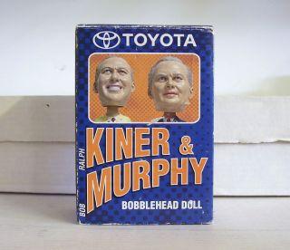 Ralph Kiner Bob Murphy 2003 New York METS Announcer Bobble Bobbleheads