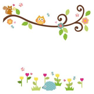 Big Wall Stickers Tree Leaves Owl Room Decor Decals Baby Kids