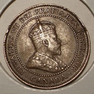 1906 Canada Large Cent VF XF King Edward VII