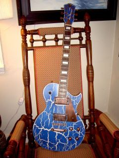 AXL AL 820 CKBL Relic Blue Set Neck Badwater Mahogany Body Electric