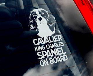 Cavalier King Charles Spaniel Dog Car Sticker Sign