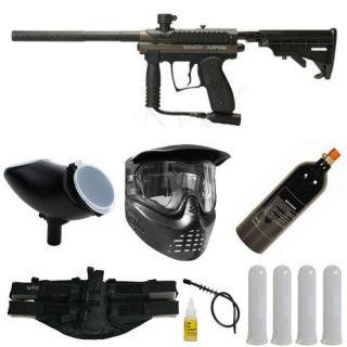 Kingman Spyder MR100 Pro Paintball Gun Package 2 Olive Green