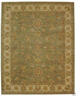 Antiquities Gem Green Wool Carpet Area Rug 8 x 10