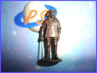 Kinder Vintage Metal Musketeer Bronze Soldiers