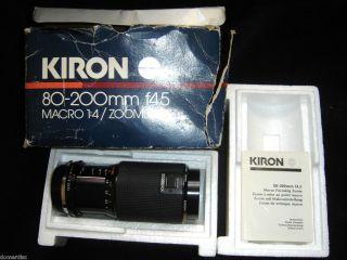 Vtg Kiron Macro 80 200 Camera Lense f4 5 Box Paper Olympus 1982 Japan