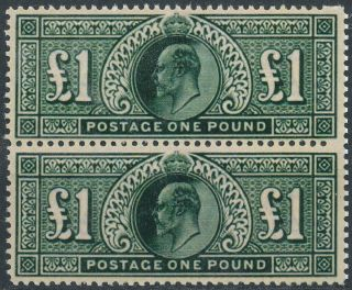 Stamps GREAT BRITAIN 1902 11 King Edward VII 1 pound pair MNH Replica