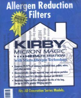Sentria HEPA Micron Magic UG Kirby Vacuum Bags SEALED Product