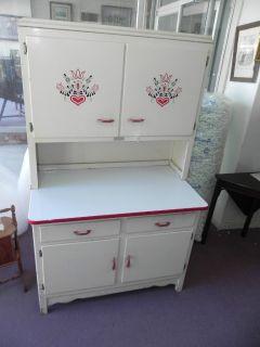 Scheirich Kitchen Cabinet Louisville Ky RED WHITE Paint Porcelain Top