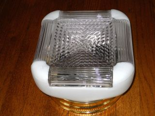 Vintage 8 Art Deco Style Square Kitchen Ceiling Light Fixture