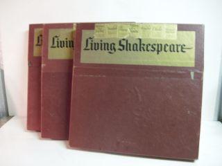 Shakespeare 3 Box Sets Record LPs HAMLET MacBeth OTHELLO King Henry V