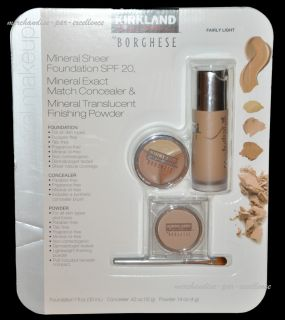 BORGHESE Kirkland Make Up Mineral Sheer Foundation Concealer Powder