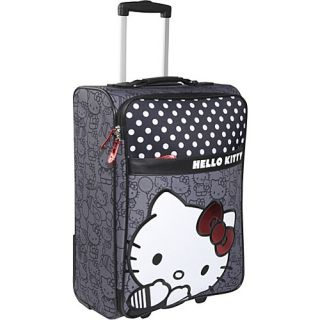 Loungefly Hello Kitty Black White Rolling Luggage