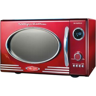 Countertop Microwave Oven Retro Red Compact Kitchen Dorm Electric