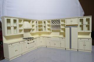 Bespaq Dollhouse Miniature kitchen furniture appliance set cabinet