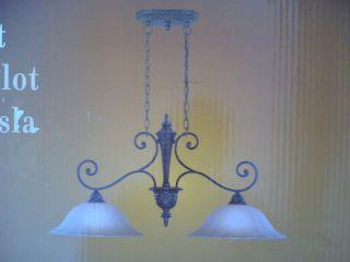 Elegant Kitchen Island 2 Lite Pendant Light