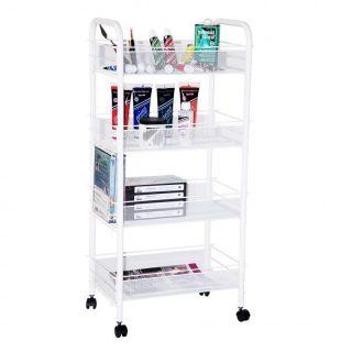 Laundry Bathroom Kitchen Shoe Storage Cart Organizer