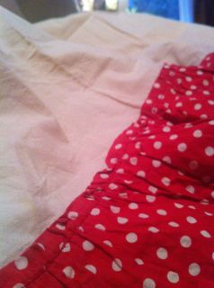 Darling Retro Red Polka Dot Ruffled Kitchen Curtains from The 1950s
