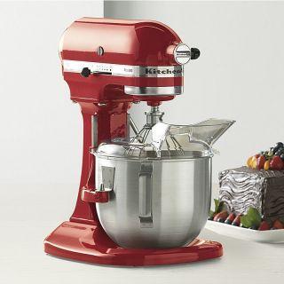 KitchenAid Pro 500 Stand Mixer 5 Quart Lift Metal Red Black White