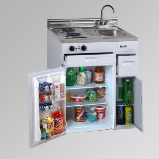 30 Complete Compact Kitchen Refrigerator Stainless Steel Sink