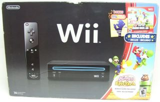 Wii Black Holiday Bundle Super Mario Bros Music CD Kirbys Epic Yarn