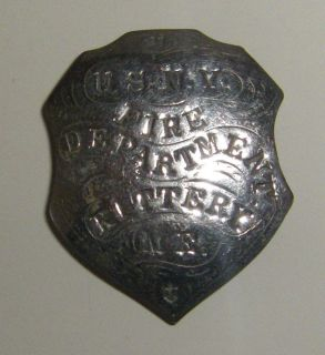 Vintage Badge U s N Y FD Kittery Me