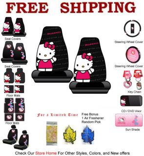 Front Seat Covers Set Sanrio Hello Kitty Core Classic Waving