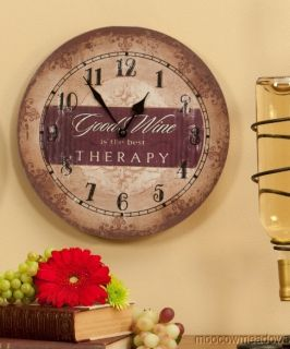 Therapy Clock Vintage Wall Decor Kitchen Dining Room Accent Art