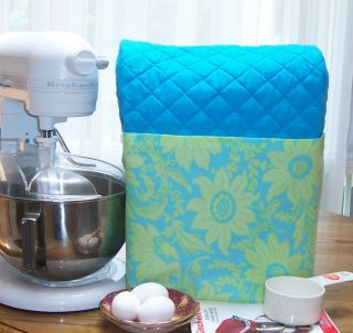 BLUE Kitchen Aid MIXER Stand cover FLORAL AMY BUTLER FLOWER POCKET 4 5