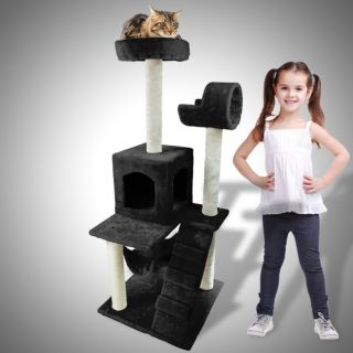 Cat Tower Tree Deluxe Condo Scratcher Furniture Kitten House Hammock