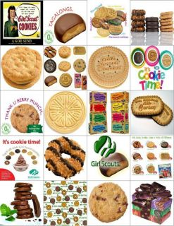 Girl Scout Cookie Photo Magnets 20pk So Cool Realistic Cool